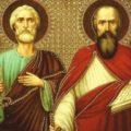 12 июля праздник святых, славных и всехвальных, и первоверховных апостолов Петра и Павла.